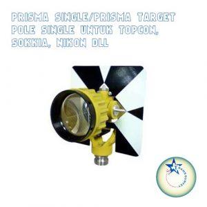 Prisma Single/Prisma Target Pole Single Untuk Topcon, Sokkia, Nikon, dll