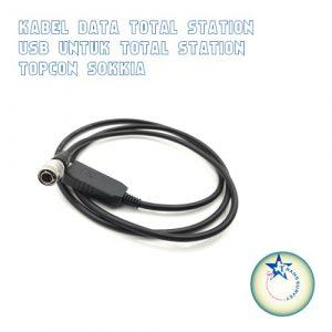 Kabel Data Total Station USB Untuk Total Station Topcon Sokkia